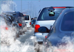 IN THE AIR: A recent study by the University of Southern California found that at least eight percent of the more than 300,000 cases of childhood asthma in Los Angeles County can be attributed to traffic-related pollution at homes within 250 feet of a busy roadway. (Photo courtesy Hemera Collection)