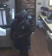 Surveillance footage from an armed robbery at the Jack in a Box at Santa Monica and Lincoln boulevards (Photo courtesy SMPD)