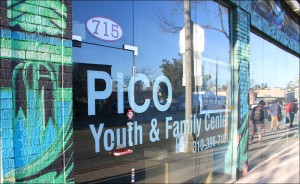 HELPING HAND: Pico Youth & Family Center is located on Pico Boulevard. The center was created to help at-risk youth. (Photo by Daniel Archuleta)