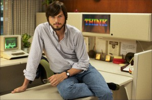 LOOKING THE PART: Ashton Kutcher stars in a bio-pic of Apple founder Steve Jobs that Lotus Post has done sound work on.