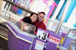 Pacific Park is offering a free LED rose and sweet treats to the first 500 couples that take a spin on the Ferris wheel. (File photo)