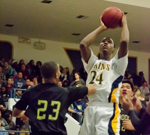Samohi's Jordan Mathews goes up for a shot against Narbonne on Wednesday. (Photo by Paul Alvarez jr.)