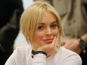 Actress Lindsay Lohan appears at the Los Angeles Superior court on Monday.