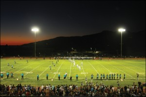 Malibu High School lights. (Photo courtesy Malibu Times)