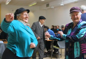 Seniors cut a rug on Monday at WISE & Healthy Aging. It was the opening day for Club 1527. (Photo by Daniel Archuleta)