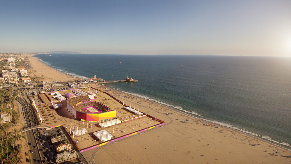 If The Olympics Come To Los Angeles In 2024 Santa Monica Could Host Beach Volleyball Event A Temporary 12 000 Person Venue Adjacent
