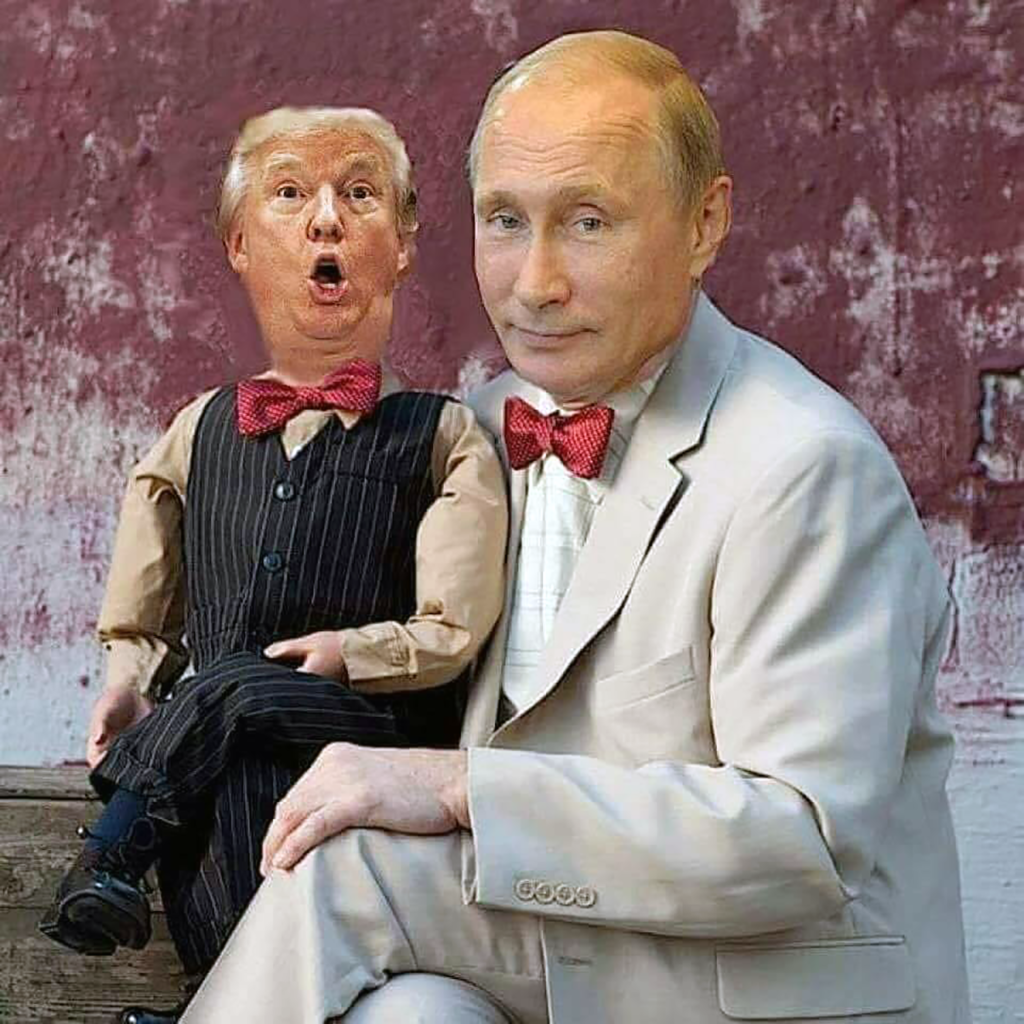Image result for trump puppet