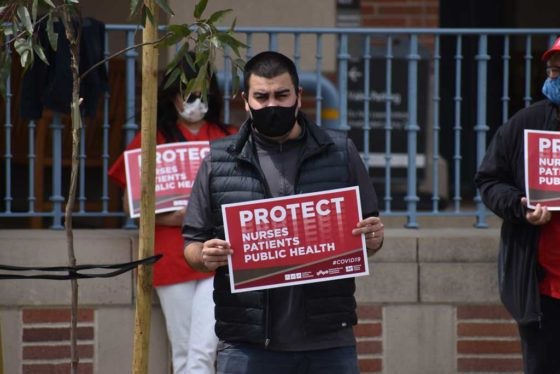 UCLA nurses protests lack of protective equipment