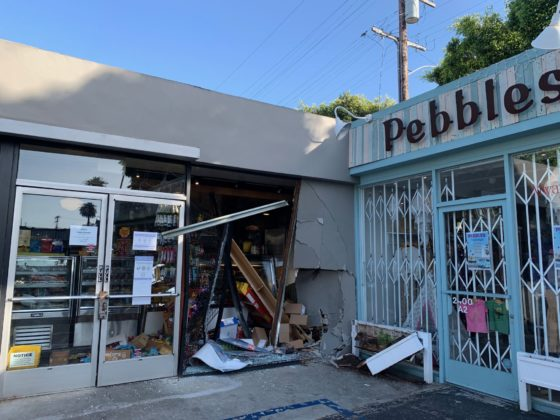 Shoop's Deli damaged in hit and run crash